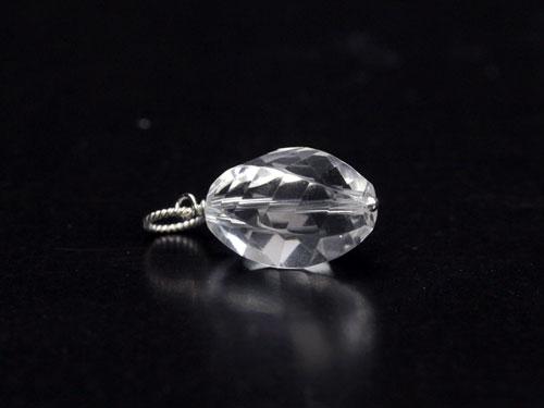 ペンダントトップ bijoux 水晶 6面ツイスト SV925 小