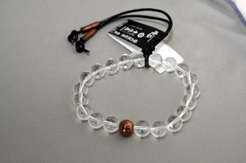 極念珠 紅金 零式 本水晶 約10mm