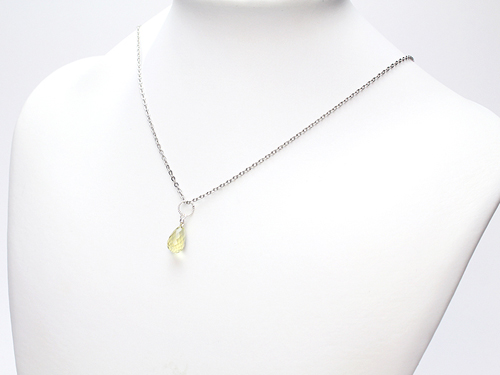 ペンダントトップ bijoux レモンクォーツ ブリオレットカット SV925