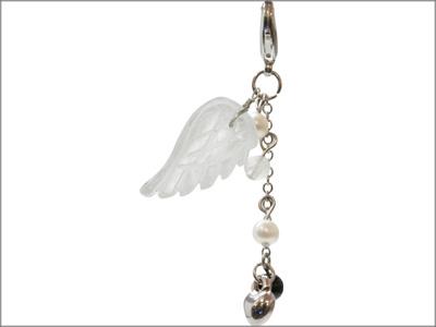 ストラップ 天使の羽 ホワイト 優雅さと優しさをもつ天使・ハニエル