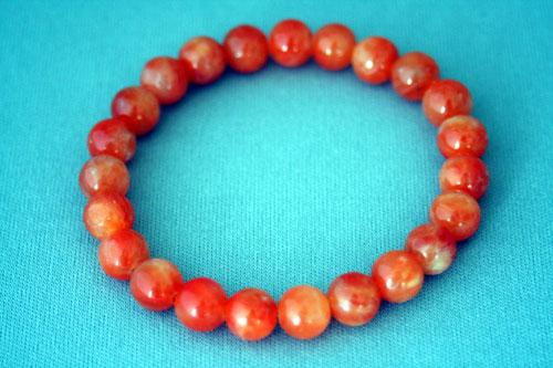 ブレスレット オレンジカルサイト 8mm