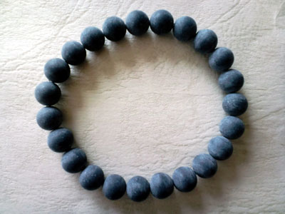 ブレスレット 天然ブラックマール 8mm  数量限定商品