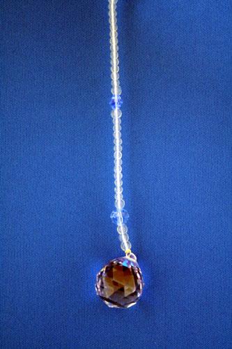 サンキャッチャー 2cm玉 薄いブルー/パープル
