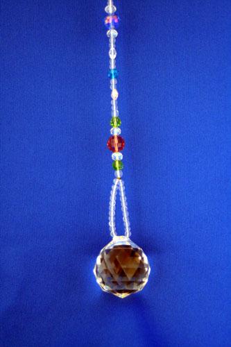 サンキャッチャー 3cm玉 マルチカラー クリスタルガラス