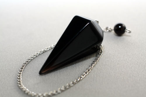ペンデュラム カット モリオン 天然黒水晶