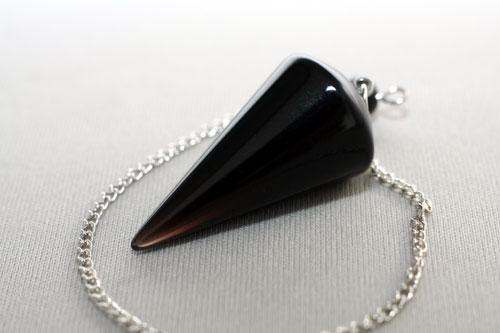 ペンデュラム ラウンド モリオン 天然黒水晶